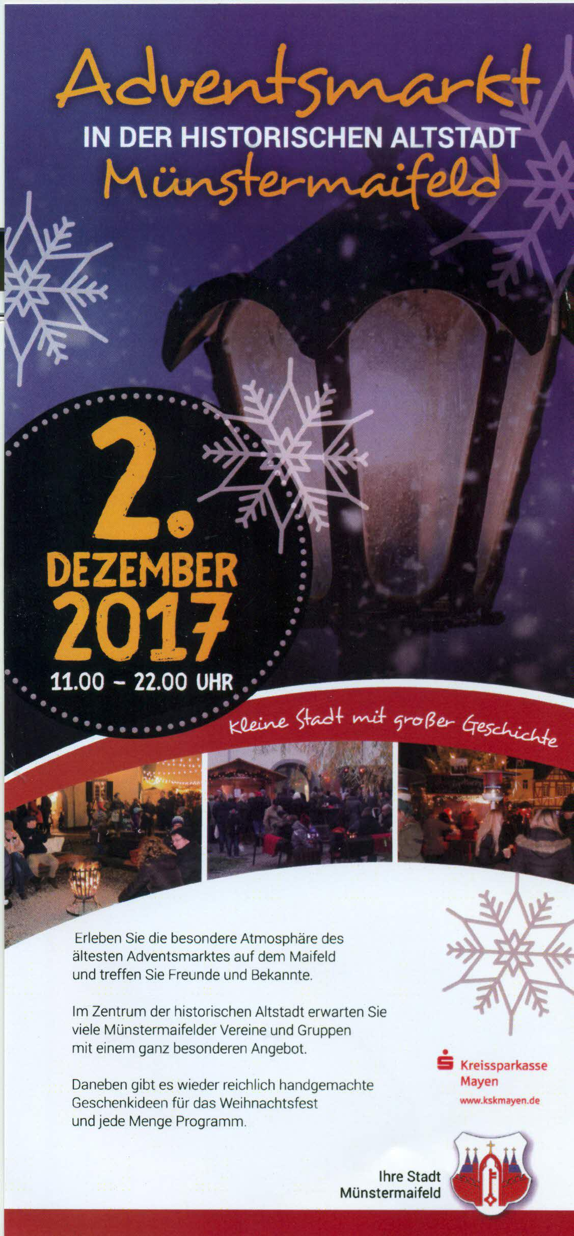 Flyer Adventsmarkt 2017