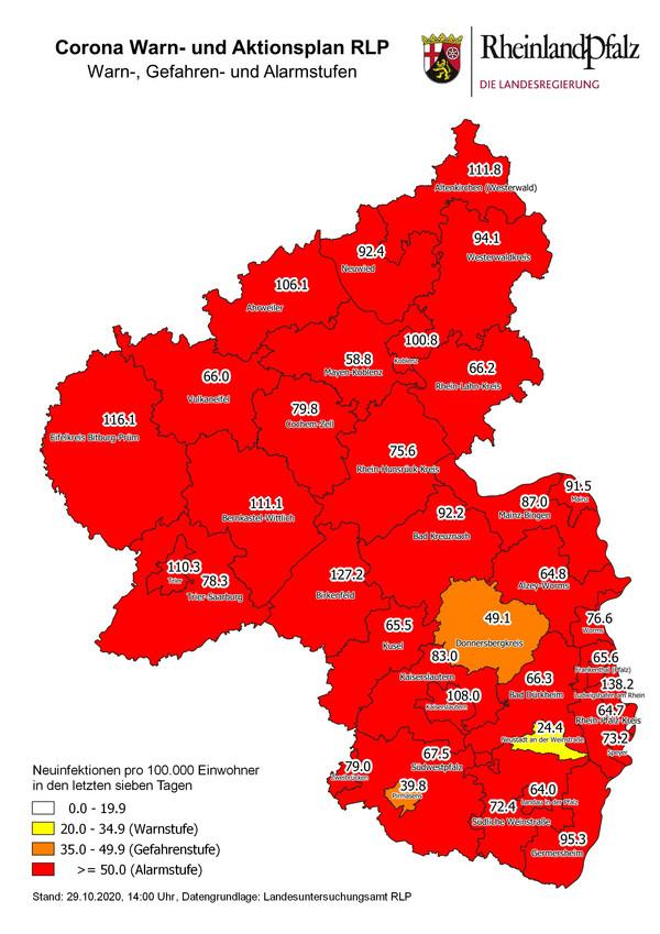 Corona Fallzahlen Rheinland Pfalz